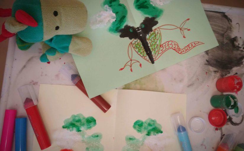 Zabawy dla dzieci kolorowymi kleksami